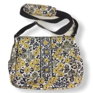 VERA BRADLEY Quilted Floral Diaper Crossbody Bag